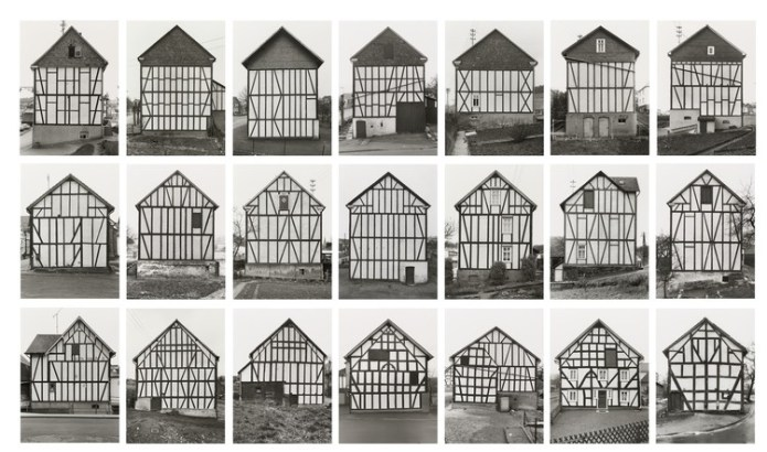 "Three Defining Movements in Architectural Photography, Bernd Becher, Hilla Becher. Framework Houses, 1959-73. © 2018 Hilla Becher. Credits: MoMA; Gift from Hilla Becher. Under ""Fair Use"""