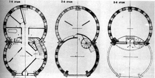 Melnikov House Plan