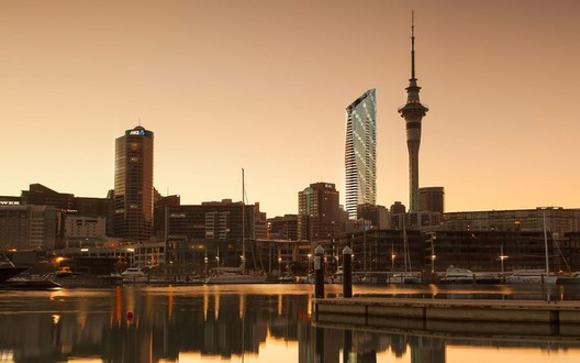 Auckland Tower. Image Courtesy of Warren and Mahoney