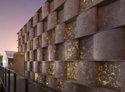Concrete Facade Light Effect. Image © Fangfang Tian