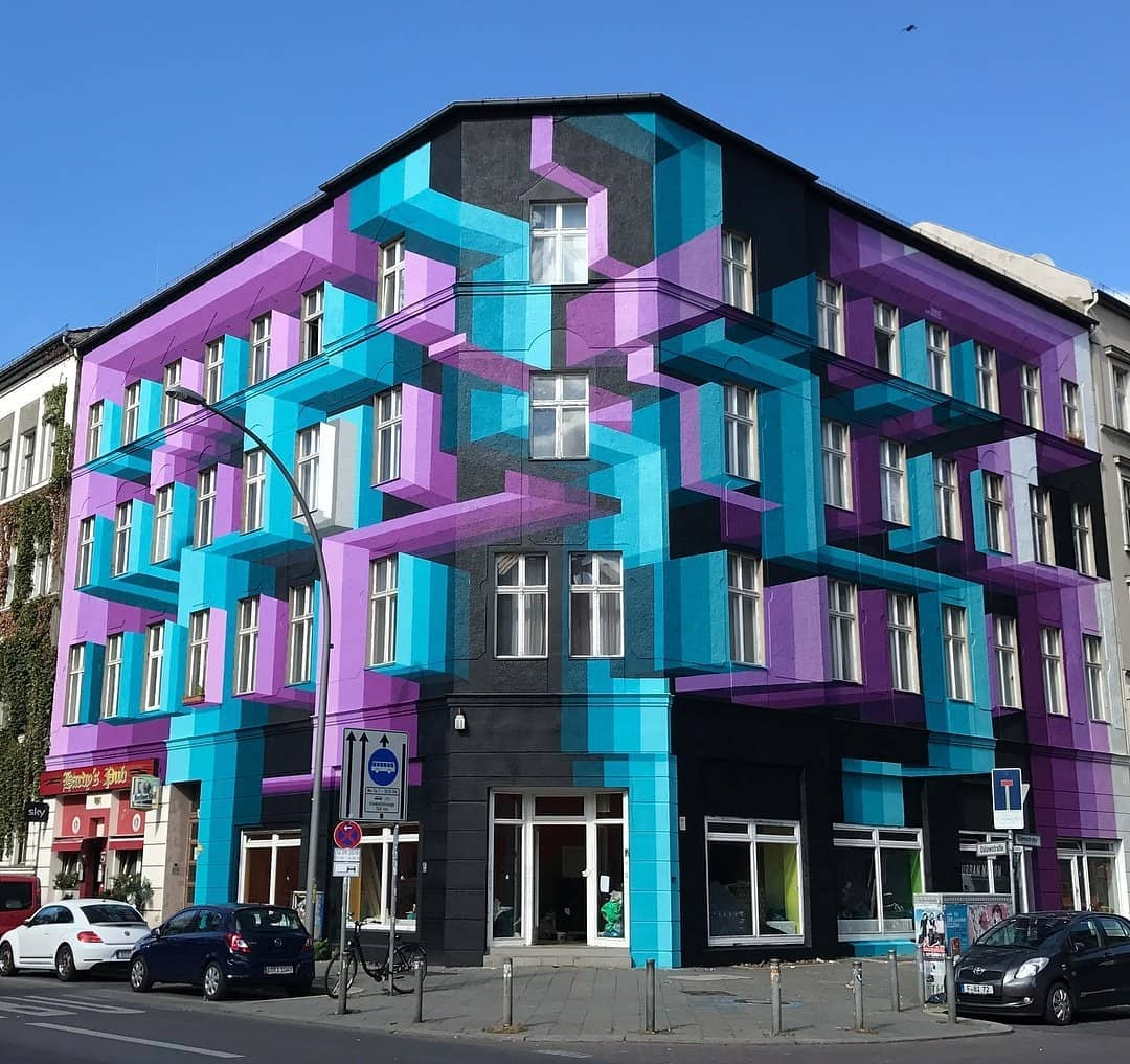 Artist . June Brings Urban Facades Life With Layered Three Dimensional Murals Archdaily