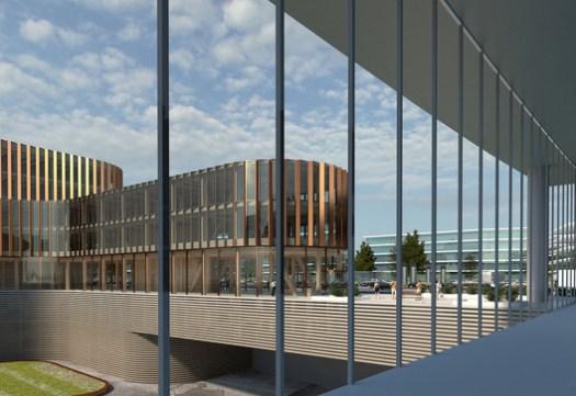 Skypark Business Center South. Image Courtesy of BIG / Metaform