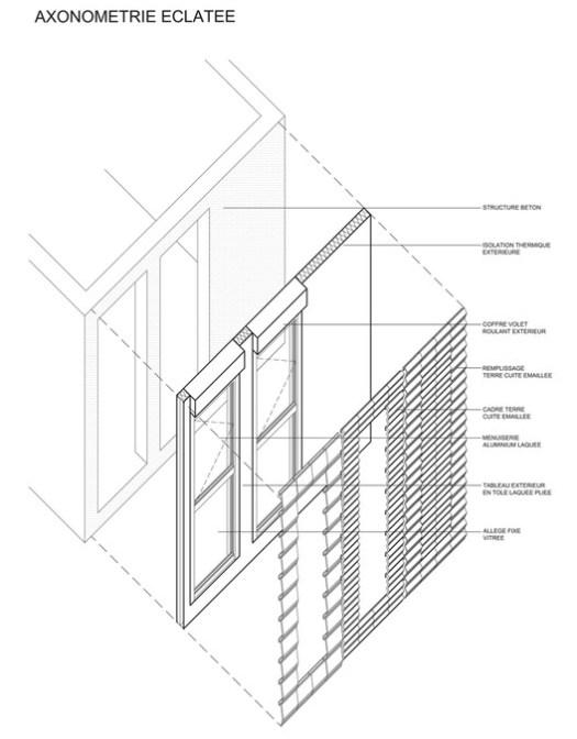Facade detail Coallia Residence and Restaurant