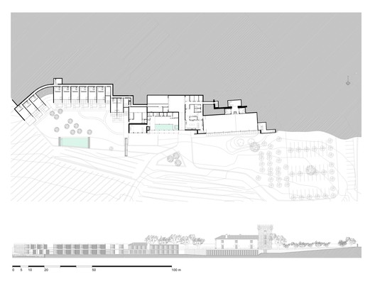 Ground floor and group elevation