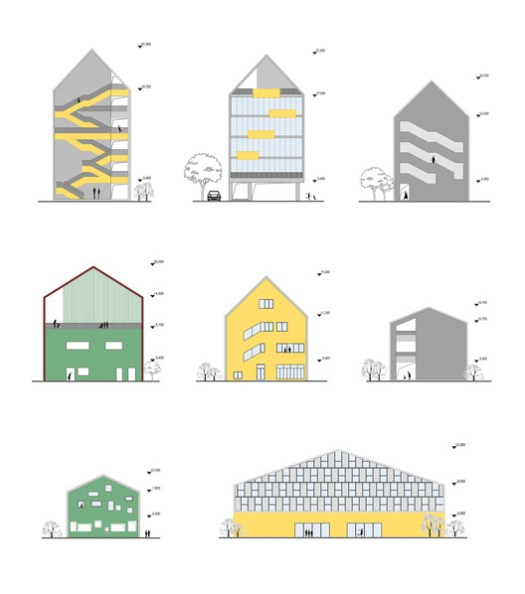 Gabled Facade Collection. Image Courtesy of LYCS Architecture