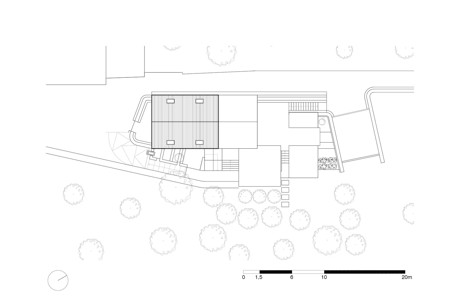 house over cave plan 02 [ 1500 x 1000 Pixel ]
