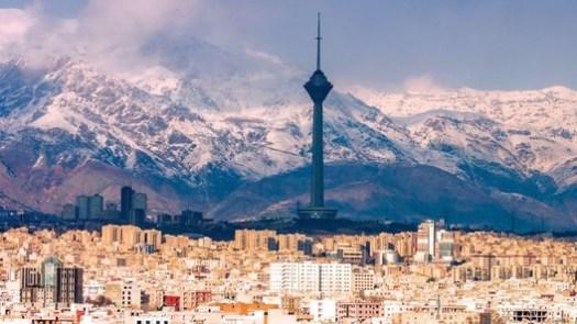 Courtesy of Business Traveler. Milad Tower overlooks Tehran.