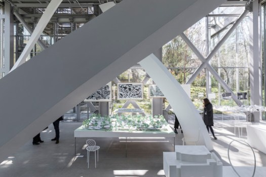 Junya Ishigami's works at the Fondation Cartier. Image © Giovanni Emilio Galanello