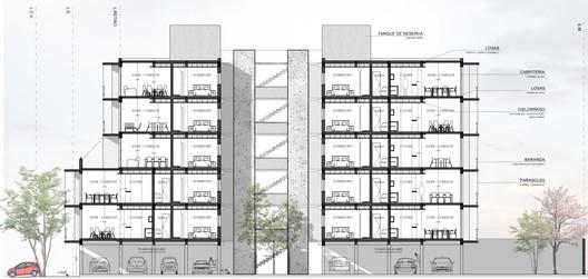 CORTE NANZER Building / V + Arquitectura Architecture