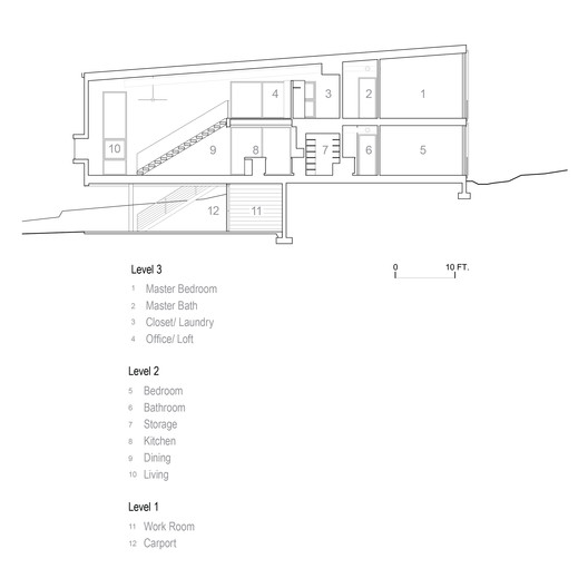 5_-_Section_Drawings Diamond Head Mountain House / Rob Paulus Architects Architecture