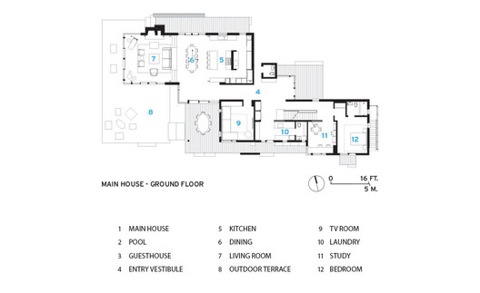 Floor_Plan East Lake House / Robert Young Architects Architecture