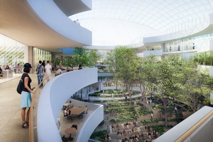 Safdie Architects' Albert Einstein Medical School Breaks Ground in São Paulo, Vista do átrio. Image Cortesia de Safdie Architects