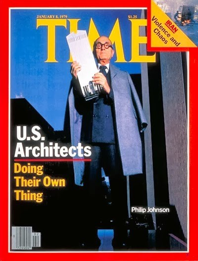 Philip Johnson on the cover of Time Magazine