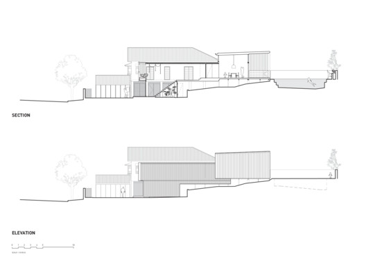 42477-SectionElevatio Gresham Street House / Jackson Teece Architecture