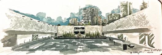 Julio (@esemijuls). Technique: Watercolor. Image © Urban Sketchers