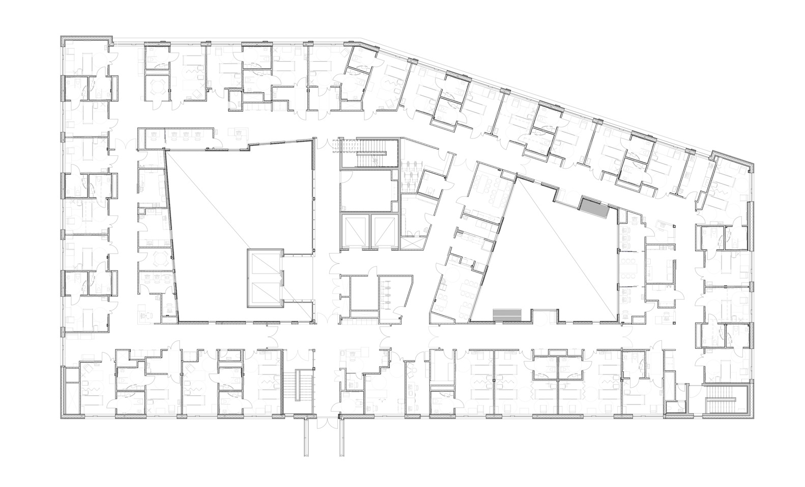 haraldsplass hospital c f m ller architects floor plan [ 1582 x 956 Pixel ]