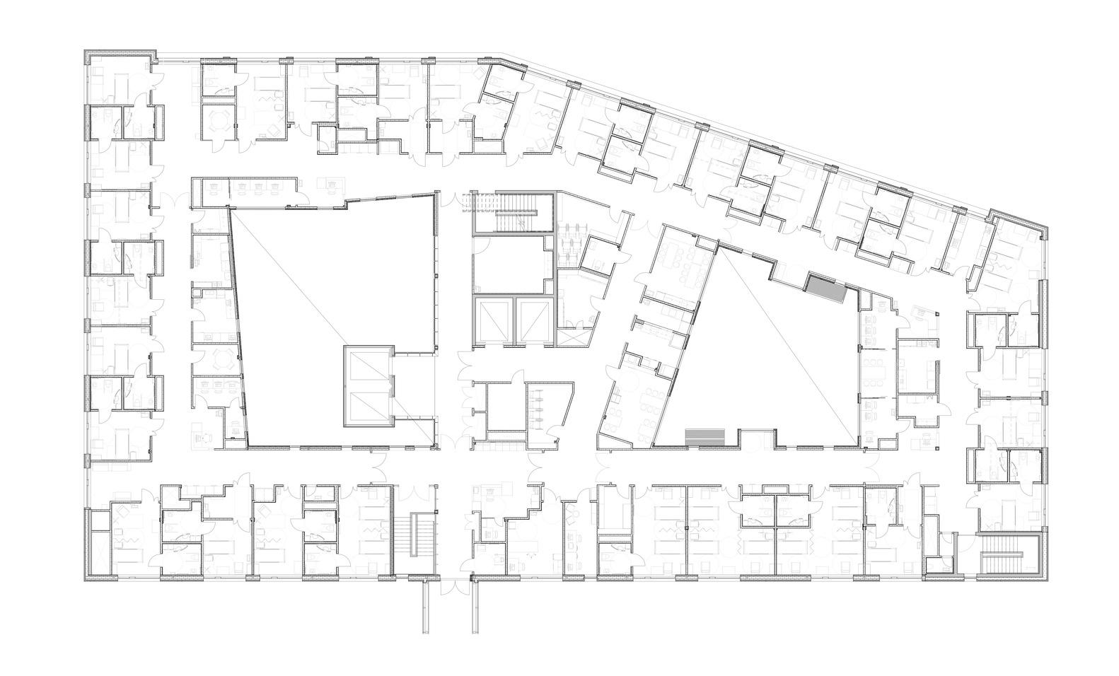 medium resolution of haraldsplass hospital c f m ller architects floor plan