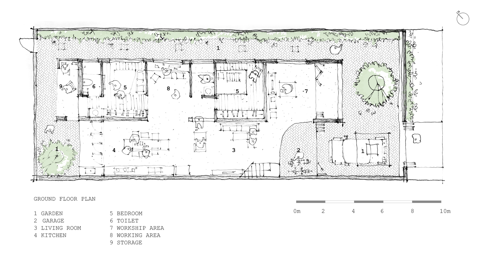 small resolution of tile roof house k59atelier ground floor plan
