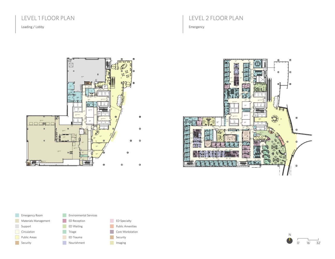 ann robert h lurie children s hospital of chicago zgf architects solomon cordwell buenz anderson mikos architects level 1 and 2 floor plan [ 1294 x 1000 Pixel ]