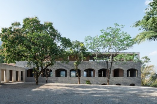 Facade of the main building. Image © Hao Chen