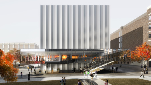 Brown University Performing Arts Center. Image Courtesy of LUXIGON