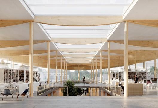 Learning Center of Université Lumière Lyon II. Image Courtesy of ALA Architects