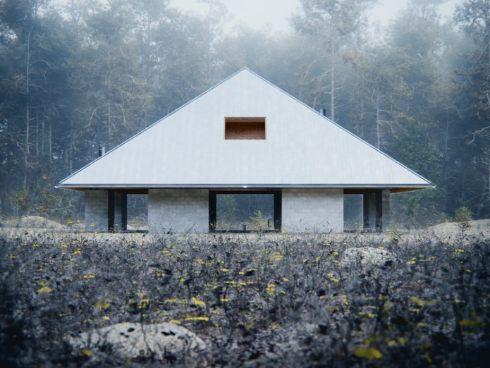 WOJR Explores Symmetry in Woodland Pyramid House, House of the Woodland. Image Courtesy of D-Render