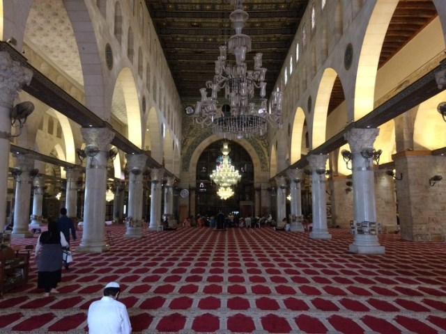 Al-Aqsa Mosque Interior. Image Courtesy of Wikimedia Commons