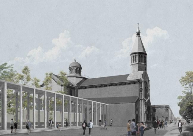 Tipología de claustro como oportunidad de reinserción urbana / Camila Chaler. Image Cortesía de Archiprix