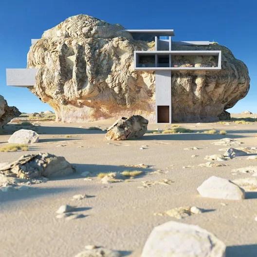 House Inside a Rock. Image © Amey Kandalgaonkar