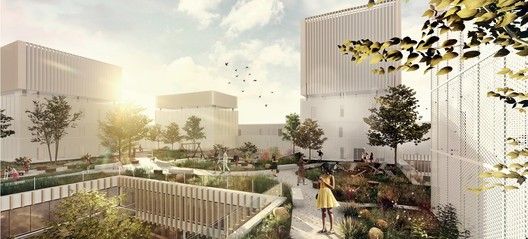 """""""Co.Living"""" - Exterior view. Image Courtesy of Saint-Gobain"""
