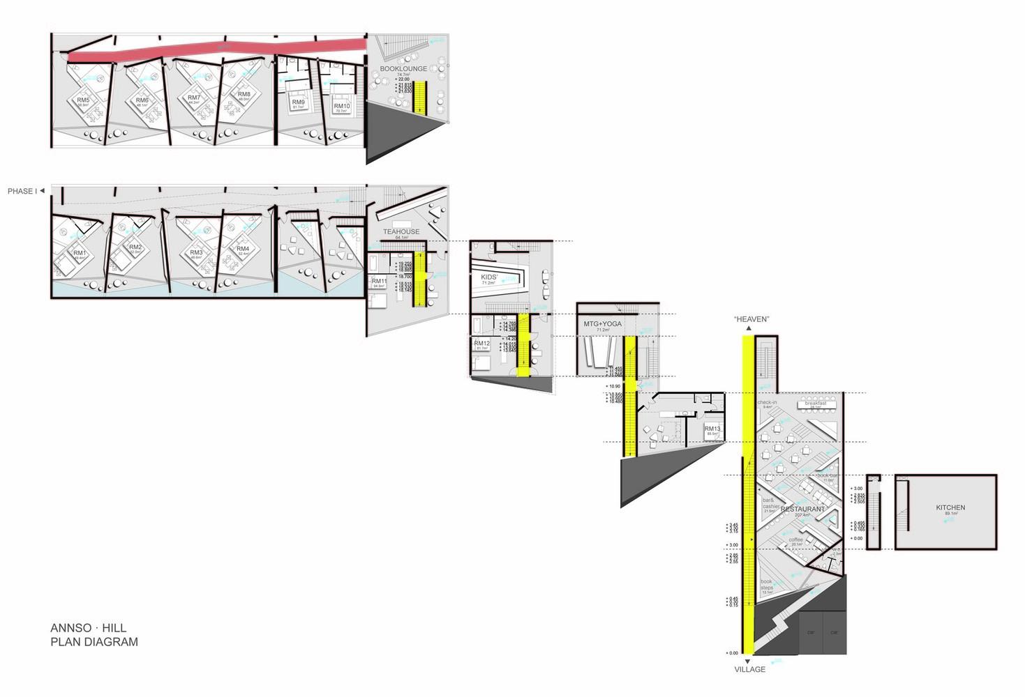 hight resolution of annso hill hotel studio qi plan