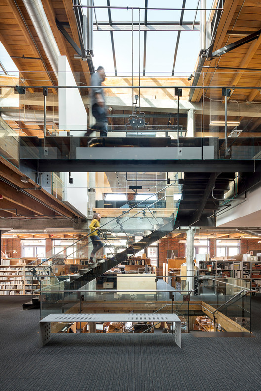Olson Kundig's Pioneer Building office blends historical detailing with modern accents. Image © Andrew Pogue via Metropolis Magazine