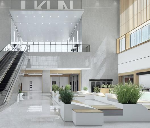 Public resources trading center hall. Image © Zhi Xia