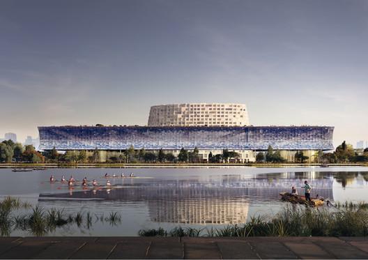 Waterfront View. Image Courtesy of Herzog & de Meuron