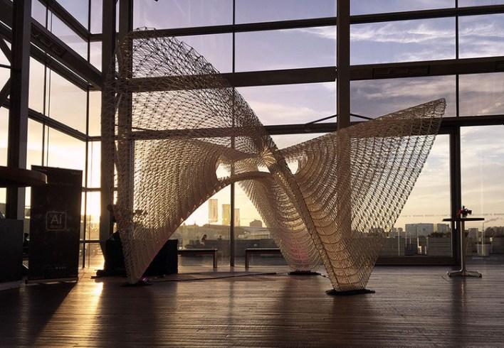 Daedalus Pavilion. Image Courtesy of Ai Build