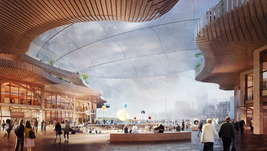 A now-scrapped redevelopment vision for the Toronto lakefront was heavy on timber construction and concern-prompting tech solutions. (Courtesy Sidewalk Labs)
