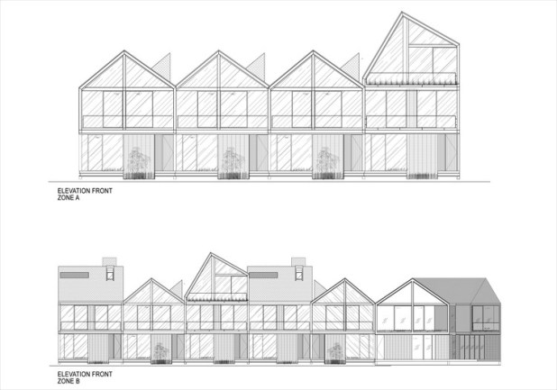Front elevation zone A - B