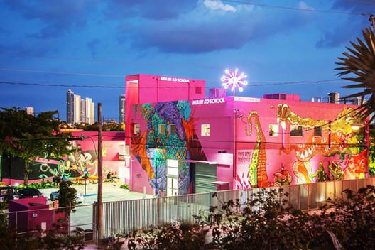 The Miami Ad School in Wynwood. Image © Robin Hill