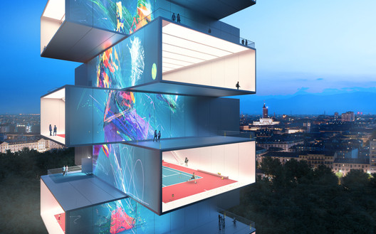 Playscraper - Tennis Tower. Image Courtesy of CRA: Gary di Silvio