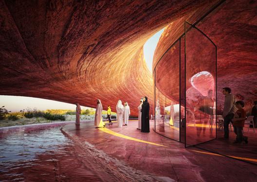 Abu Dhabi Flamingo Visitor Center. Image Courtesy of Mykhaylo Slyusar | SDAR