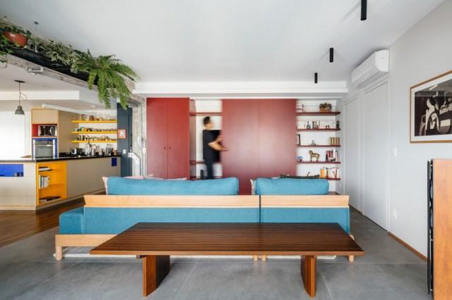 Ampliação de Apartamento no Edifício Brasil / Alvorada Arquitetos. Foto © Pedro Kok