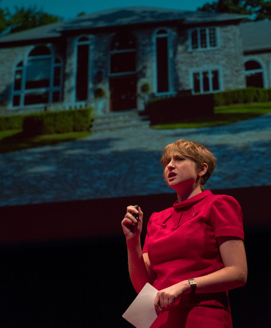 Four months after launching McMansion Hell, Kate Wagner delivered a TED talk in United States. Image © Kate Wagner