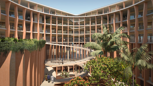 Benin's National Assembly in Porto-Novo Proposal. Image Courtesy of Kéré Architecture