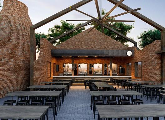 Bar del Parque La Ruina / Tamen Arquitectura. Image © Alexander Potiomki