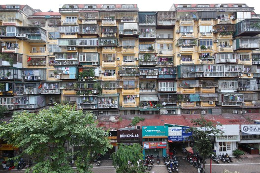Overall view of a KTT apartment building; Hanoi, Vietnam – 2018. Image Courtesy of Christophe Hutin