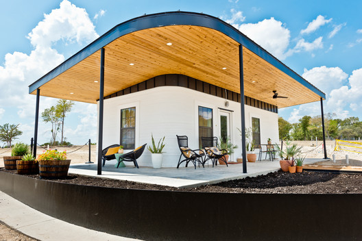 ICON 3D Printed Welcome Center Community First Village -Austin TX- Sept2019.. Image © Regan Morton Photography