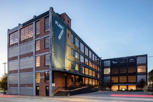 Plant 7 at Congdon Yards, an adaptive reuse project in High Point, North Carolina. Image Courtesy of Keith Isaas