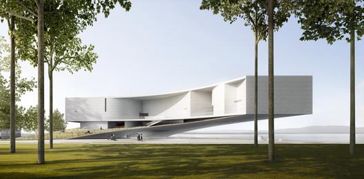 Conceptual Plan of Wuhan Nanhu Art Center. Image Courtesy of Jing Studio