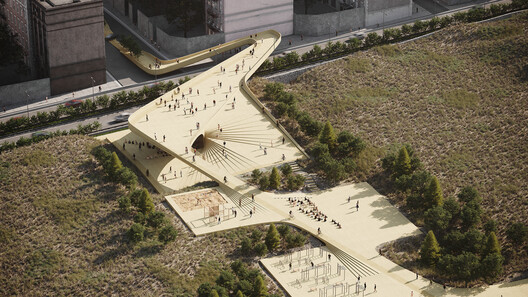 Dream Pathway/ The connection between the sports recreation park to a cultural street by CAAT studio. Image © PT-Visualization